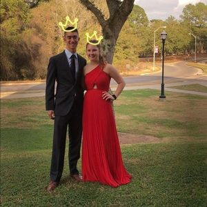 Red BCBG formal dress